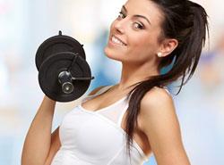 Упражнения с гантелями для женщин для похудения