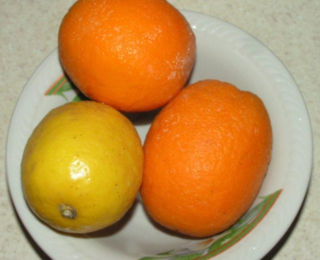 лимон и апельсин