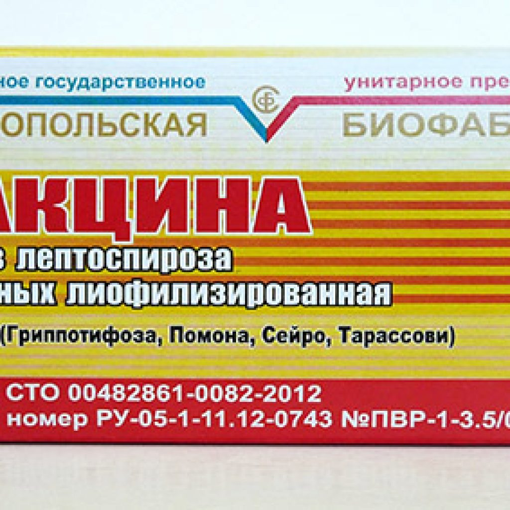 Вакцина против лептоспироза