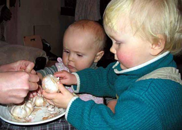Дети и чеснок
