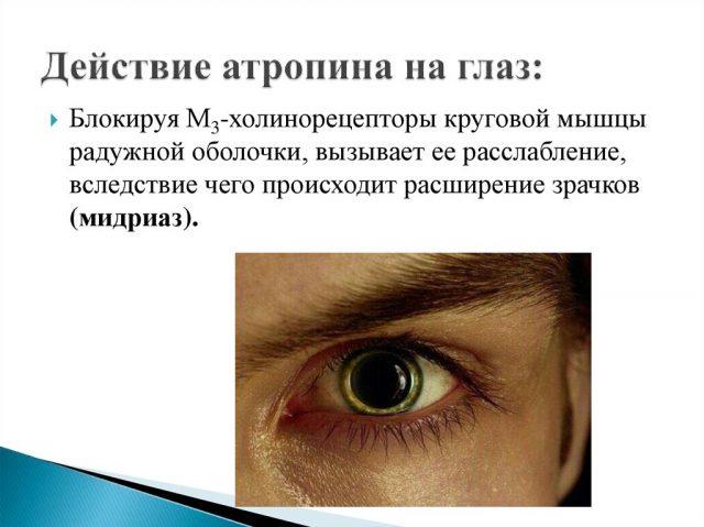 Глаз с расширенным зрачком