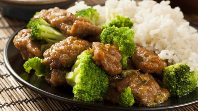 Тушеное мясо с рисом