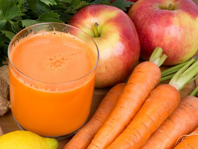 Яблоки и морковь