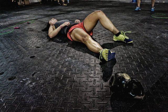 уставший спортсмен