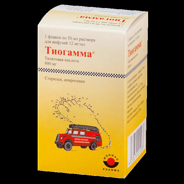 Таблетки Тиогамма