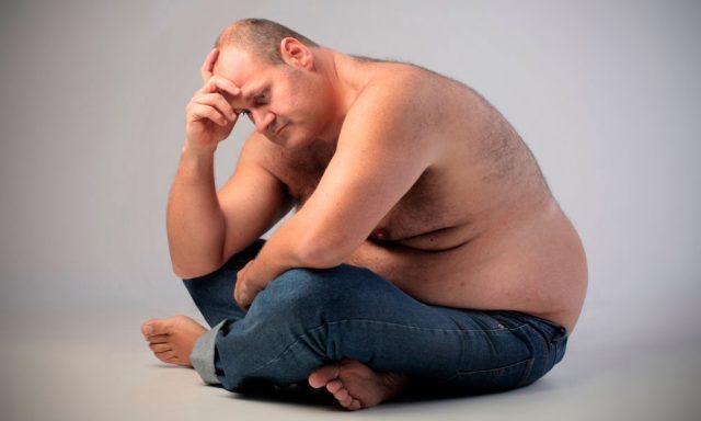 Избыточный вес у мужчины