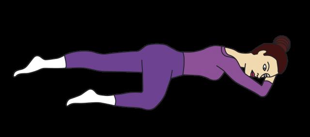 Упражнение Кегеля в положении лёжа на животе
