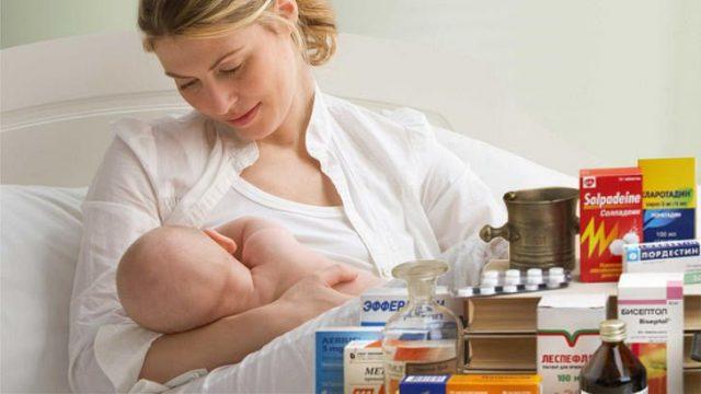 Кормящая женщина и лекарства