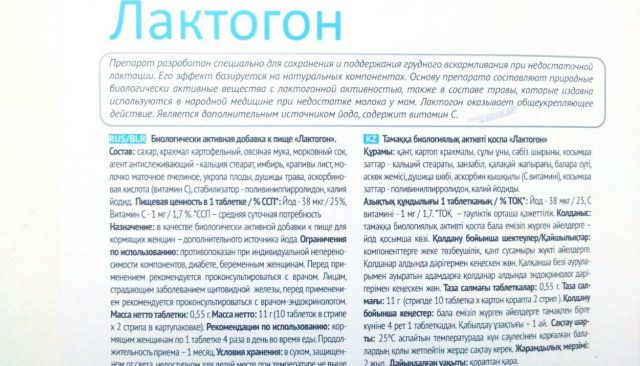 Состав препарата Лактогон