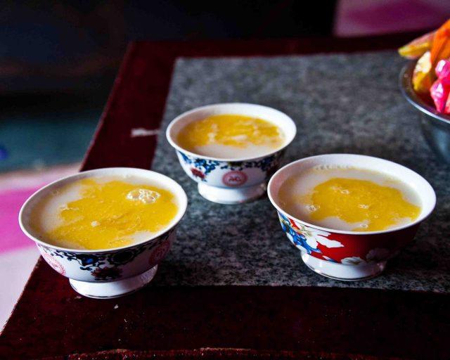 Калмыцкий чай в пиалах