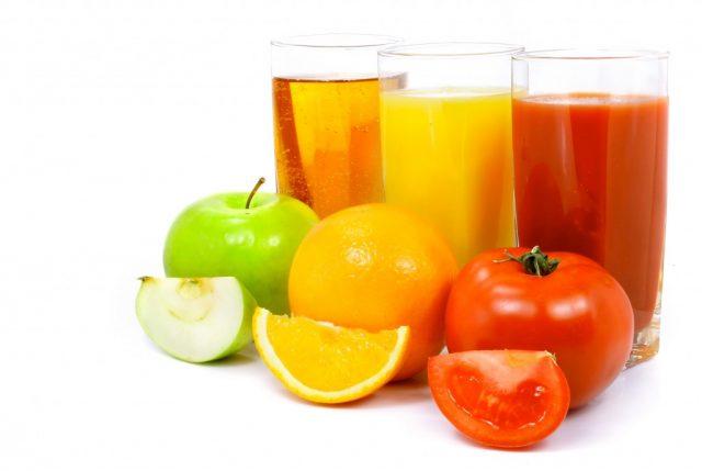 Фруктовые и овощной соки