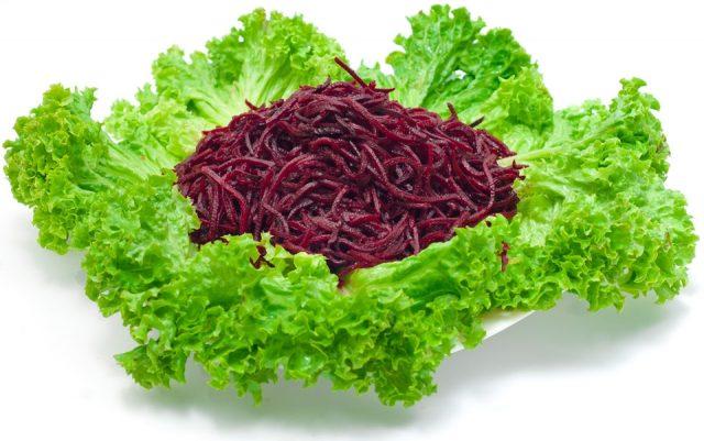 Салат из свеклы простой