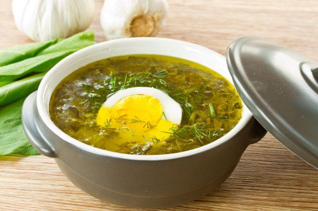 Суп со щавеля