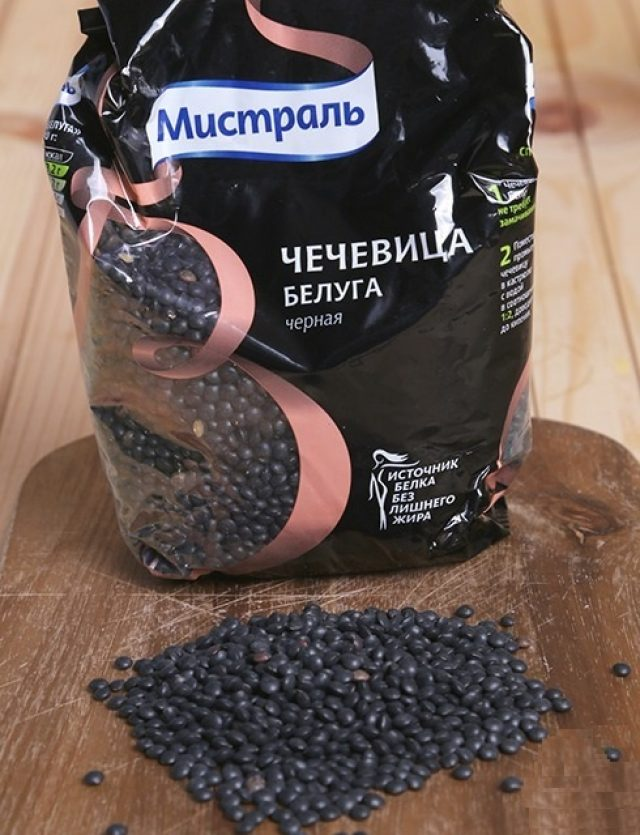 Упаковка чечевицы