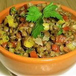 Салат из чечевицы и болгарского перца