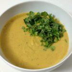 Суп-пюре из чечевицы с зеленью