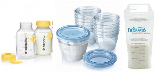 емкости для грудного молока