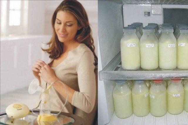 замороженное грудное молоко