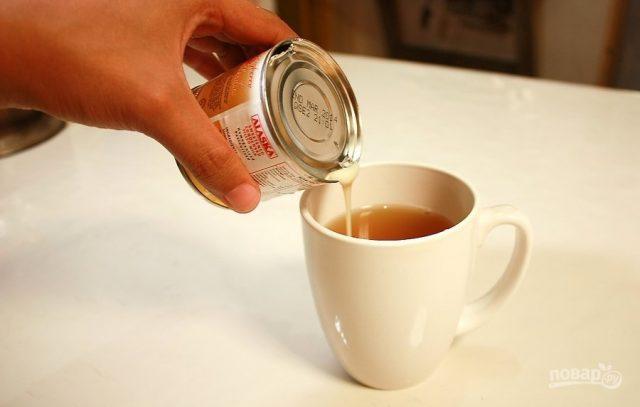 Чай со сгущённым молоком