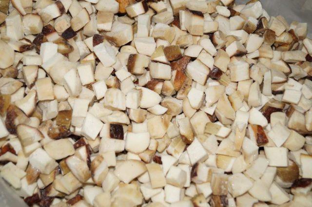 резаные грибы