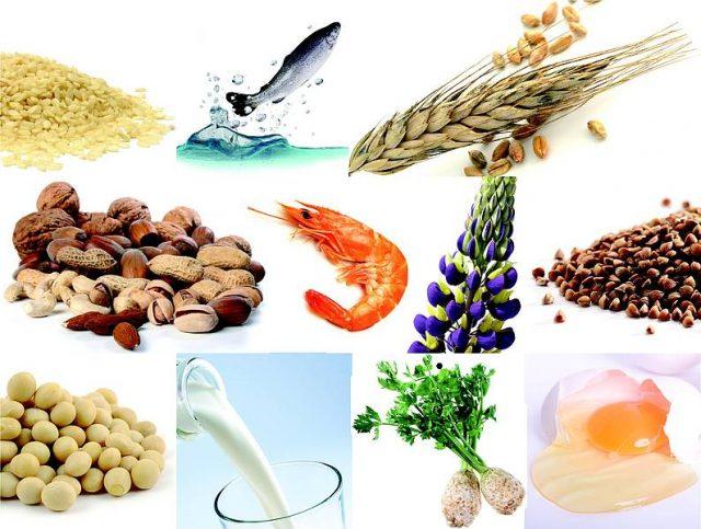 Продукты, часто вызывающие аллергию