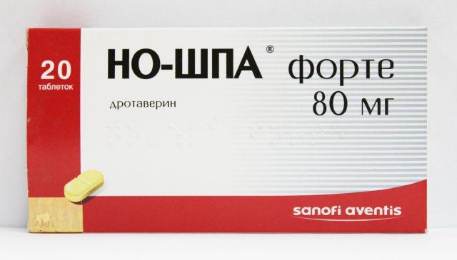 Таблетки Но-шпа Форте