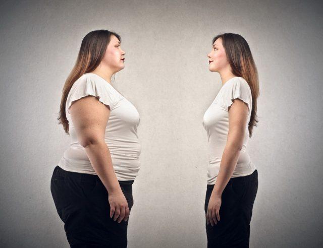 Толстая девушка и худая
