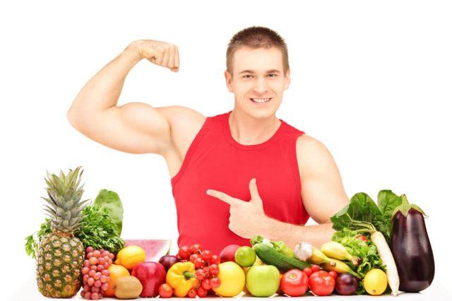 Спортсмен и фрукты