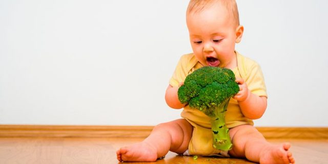 Малыш с брокколи