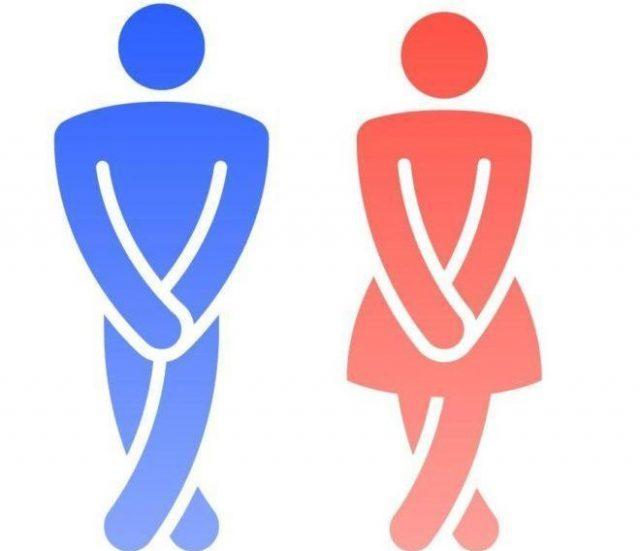 Нарисованные человечки: мужчина и женщина
