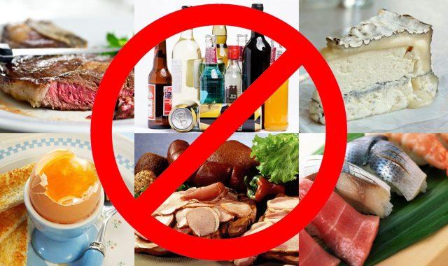 Продукты, запрещённые после операции на мочевом пузыре