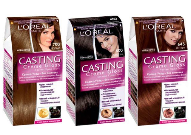 Три упаковки краски для волос Loreal