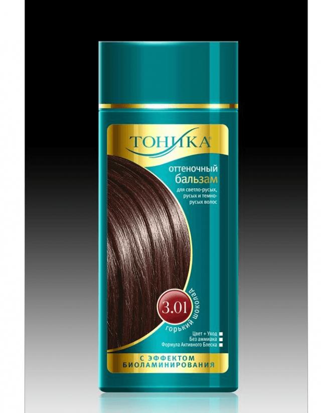 Бутылочка с оттеночным бальзамом для волос «Тоника»