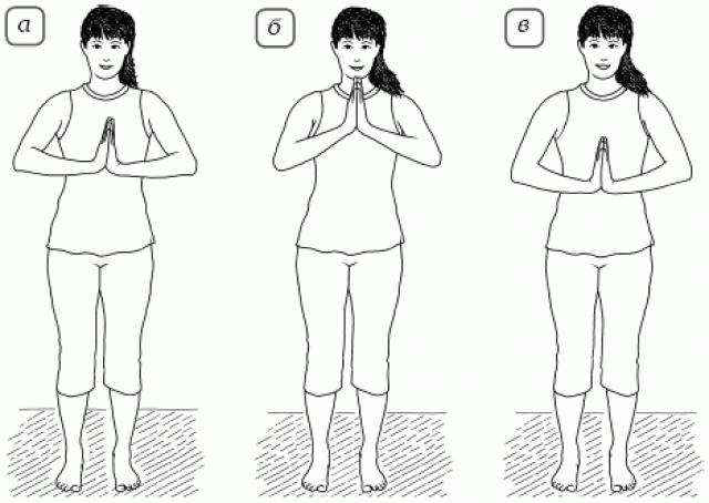 Упражнение «Сжатие рук»