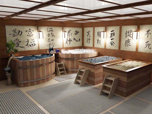 Японское офуро, или водяная баня
