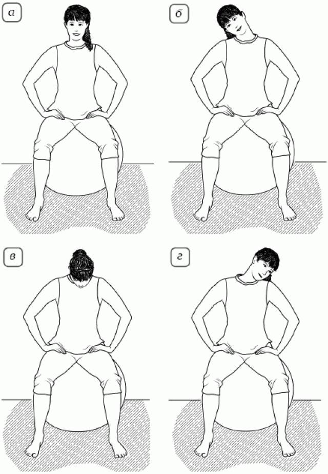 Упражнение «Круговое движение головой»