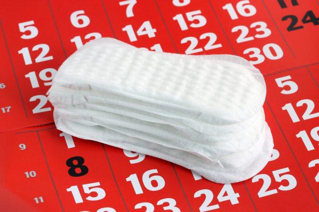 Прокладки лежат на календаре