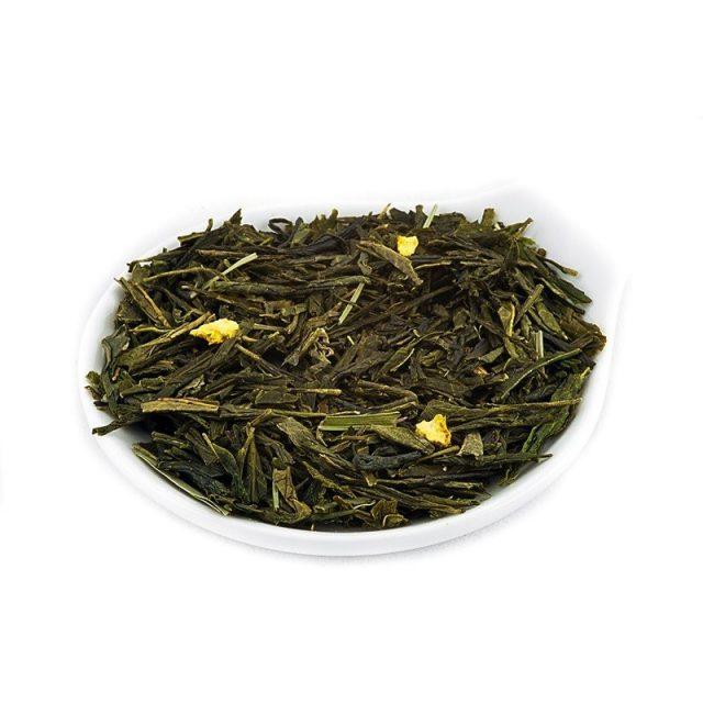 Зелёный чай россыпью в ёмкости