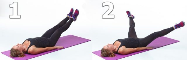 Упражнение «Разведение ног»
