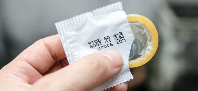 Открытый презерватив