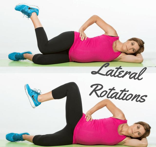 hip rotation lying