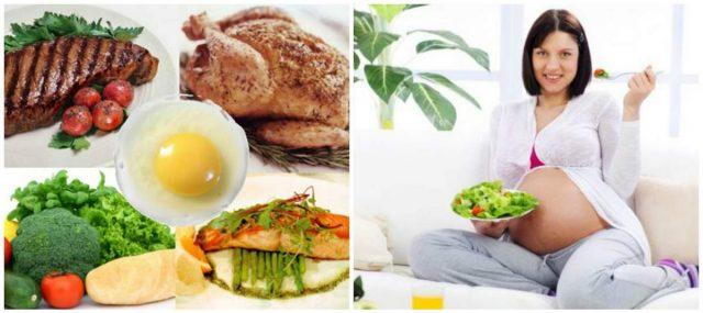 Пример запрещённых и рекомендуемых продуктов питания в период гестации