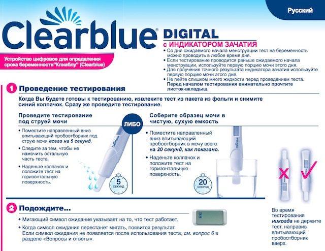 Инструкция к Clearblue Digital