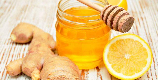 Имбирь, мёд и лимон