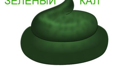 Кал зеленого цвета: причины у взрослых и детей